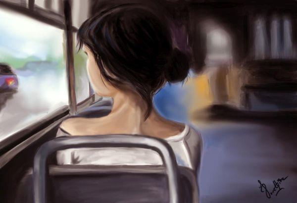 Момиче на влак