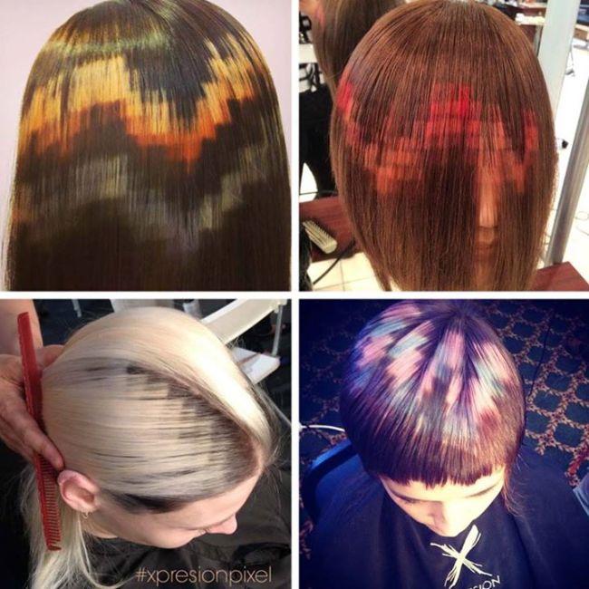Пикселизирана коса - новият тренд в модата.