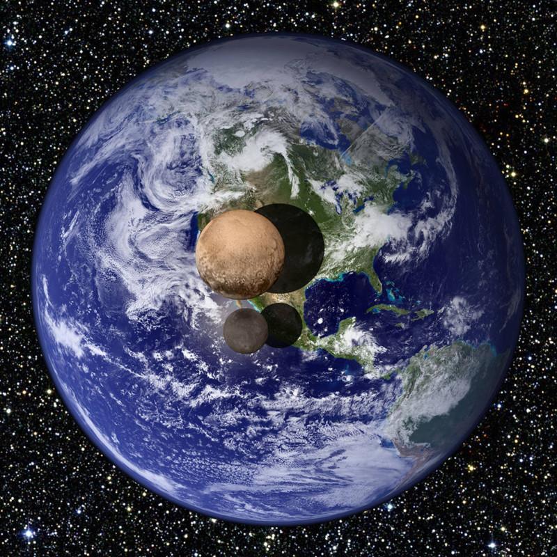 Плутон, Земя