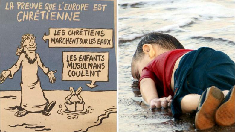 """""""Шарли ебдо"""" взриви социалните мрежи с карикатури на мъртвото сирийче. Има ли повод за дискусия?"""