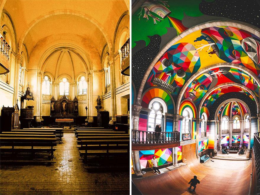 100-годишна испанска църква се превръща в уникален по рода си скейт парк