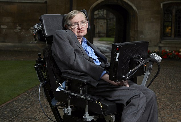 Picture shows: Stephen Hawking.