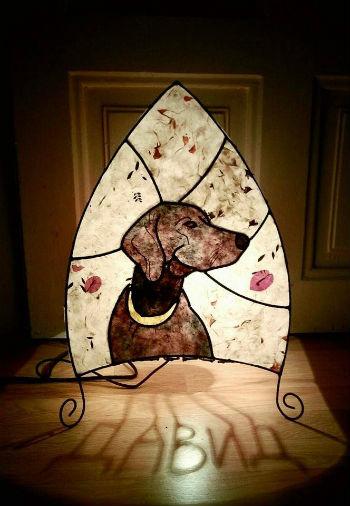 лампа с куче