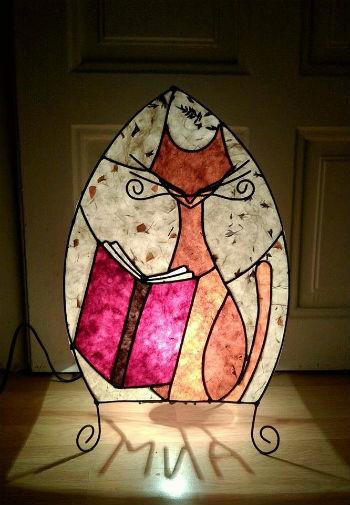 лампа с коте