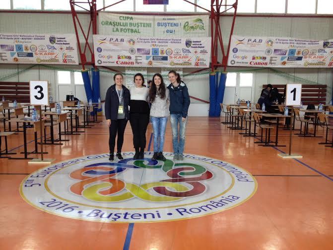 отборът по математика момичета