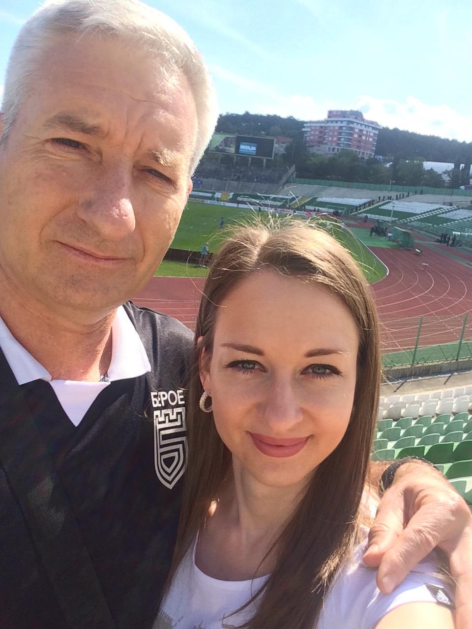 Деляна Стоянова и баща й