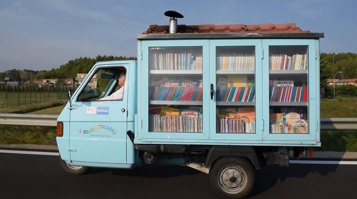 Книги на три колела – най-малката и сладка библиотека в Италия