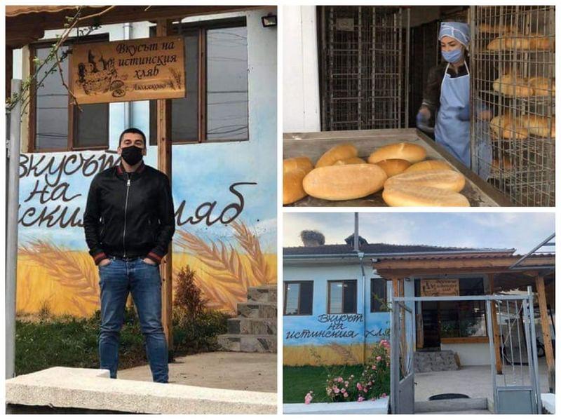 Млад хлебар раздава безплатно хляб на хора в нужда