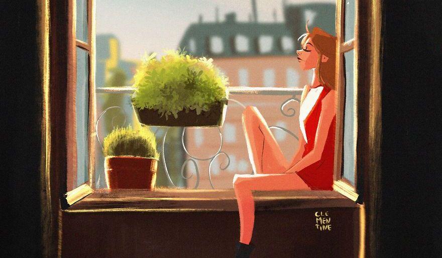 Изолацията в красиви илюстрации от българска художничка