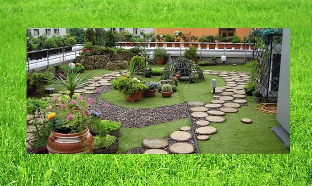 Градина разцъфна върху покрива на блок в Русе